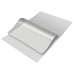 Picture of Badge card 67 x 98 mm. blank/clear 250+250 (500) micron laminating pouch 60270018