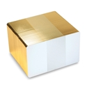 Picture of Blank white cards with gold egde - CR80