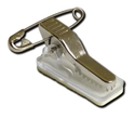 Picture of Metal crocodile id card clip with pin and self-adhesive pad