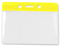 Picture of Card holder/carrying case soft plastic 86 x 54 mm. yellow top/clear (horizontal/landscape)