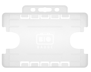 Picture of 2 sided/2 cards Bio Cardholder/carrying open face plastic frosted/clear (horizontal/landscape)