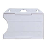 Picture of Cardholder/carrying face open plastic white (horizontal/landscape)