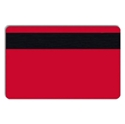 Picture of Blank red cards with magnetic stripe- IS0-7811-2 (CR80)