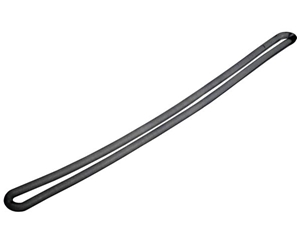 """Picture of Clear Plastic Loop Straps, 6"""" (Black)"""