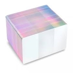 Picture of Blank white cards with holographic silver edge - CR80