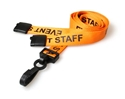 Picture of Event staff orange lanyard / Halssnor / Keyhanger / Nøglesnor / Halsrem 15 mm med plast krog